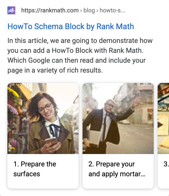 HowTo Schema Block