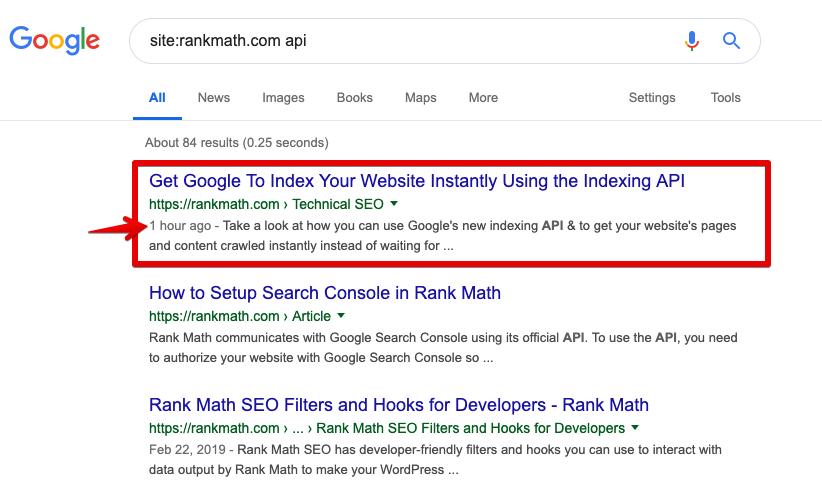 Google Instant Indexing API