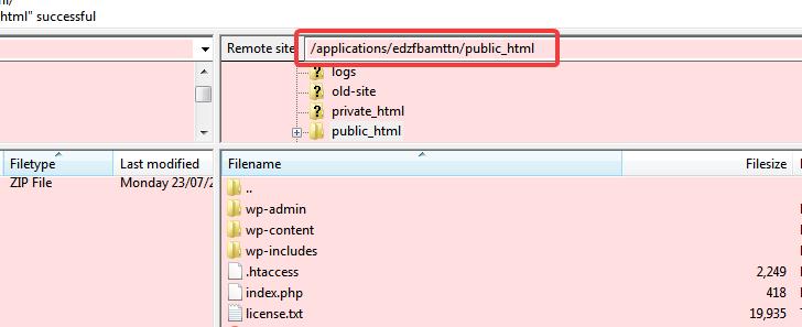 public_html directory