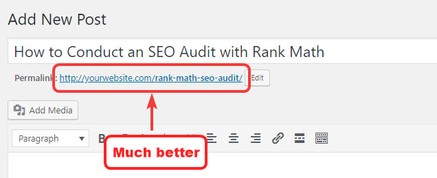 Changed URL in WordPress Post