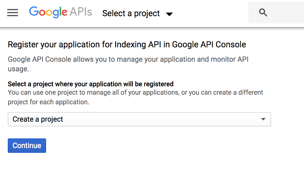 indexing api
