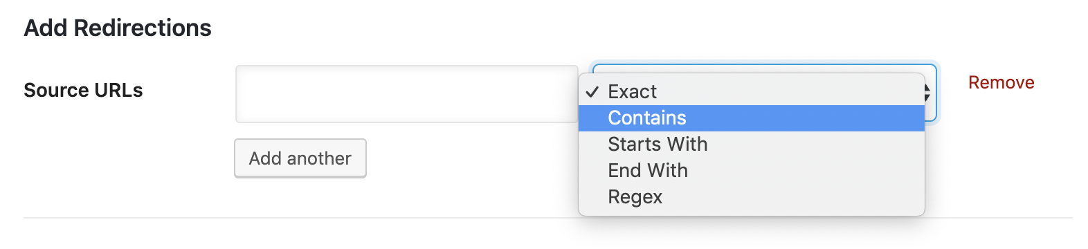 Using contains matching type for redirections with UTM parameters