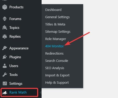 Rank Math 404 Monitor, How To Fix 404 Errors In Rank Math