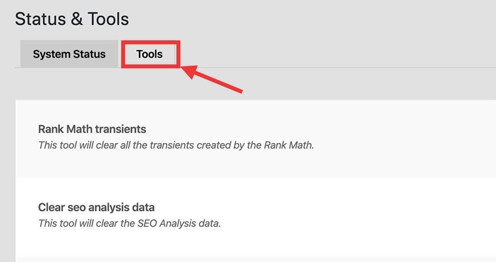 Rank Math Tools