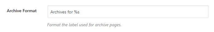 archive format