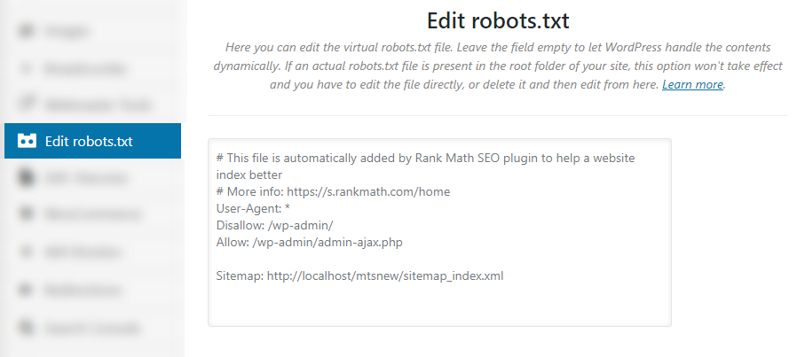 edit robots txt file