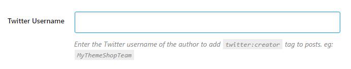 enter your twitter username