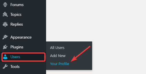 go to your user profile