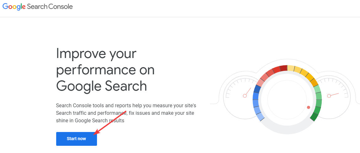 log into google search console