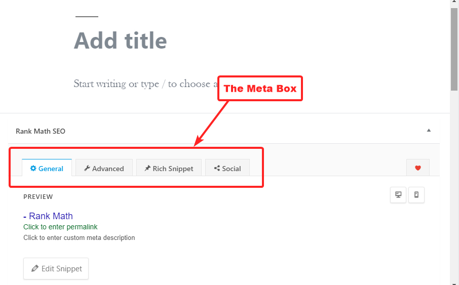 meta box visibility in the block editor