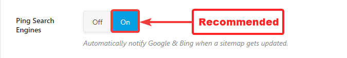 ping search engines