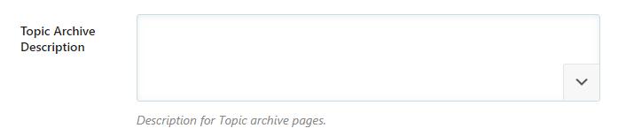 topic archive description
