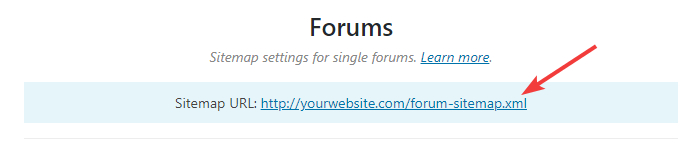 url for forums sitemap