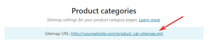 url for product categories sitemap