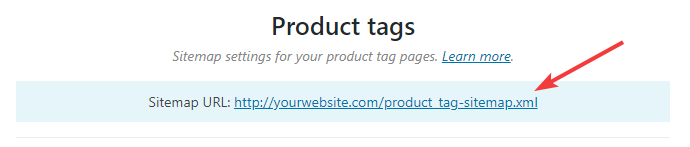url for product tags sitemap