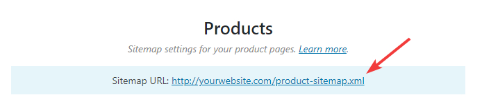 url for products sitemap