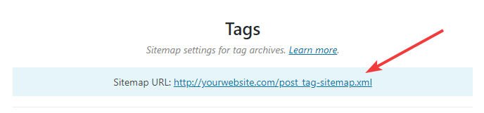 url for tags sitemap