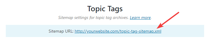 url for topic tags sitemap