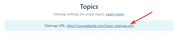 url of topic sitemap