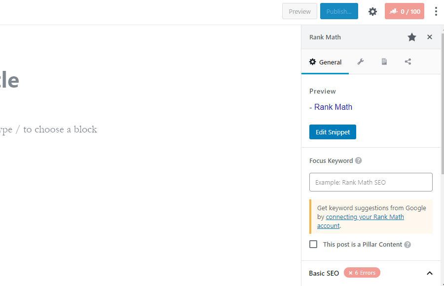 пример настроек на основе математического блока рангов