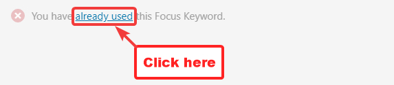 link to see other posts using the focus keyword
