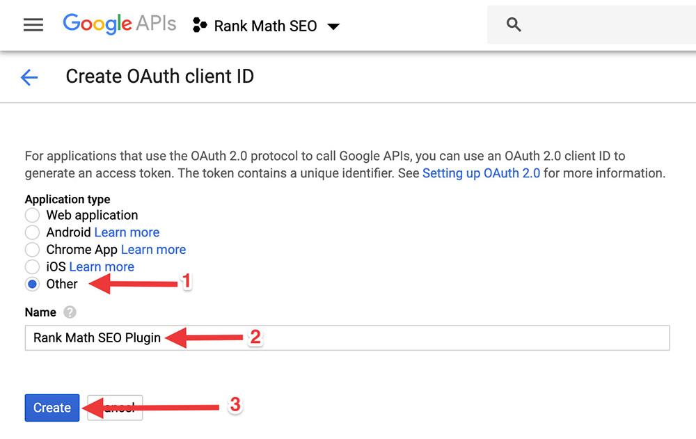 Google API Save OAuth Client ID