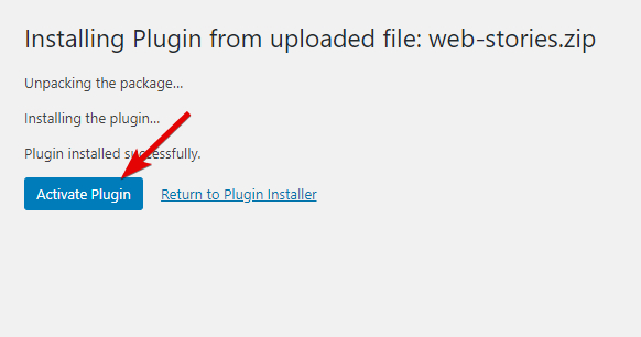 Click The Button To Activate The Plugin
