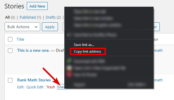 Copy The Link Of A Story