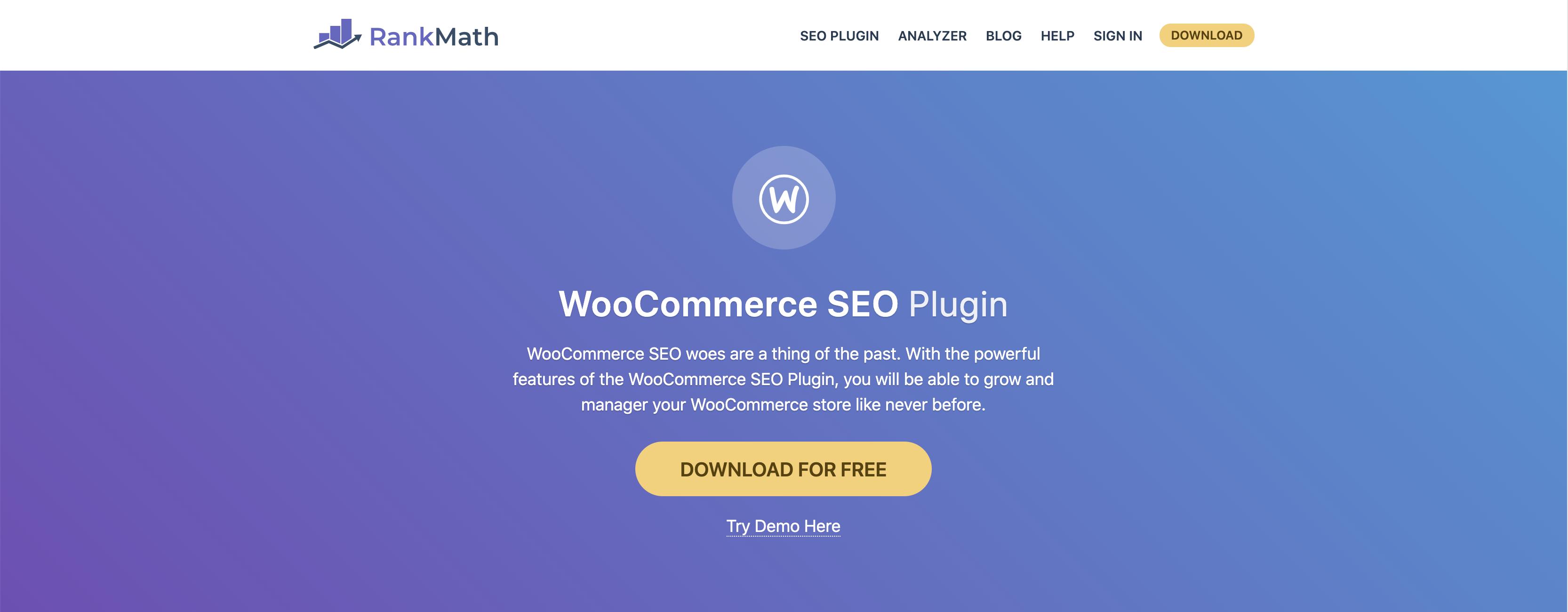 WooCommerce SEO Plugin Rank Math
