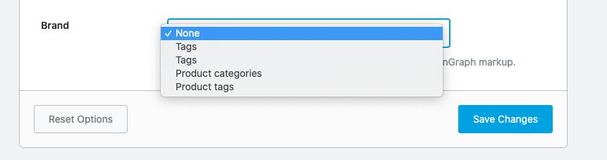 Rank Math brand settings