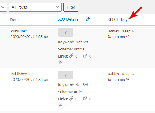 Click The Pencil Icon For The SEO Title Field