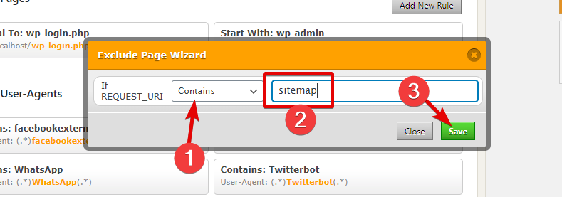 Configure Sitemap Exclusion In WP Fastest Cache