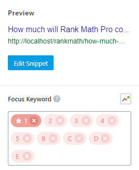 Focus Keywords Added To Post With No Limit