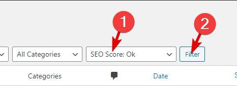 Using The SEO Score Ok Filter In Rank Math