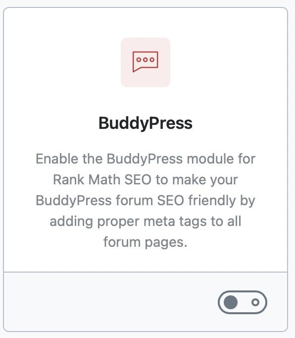 BuddyPress Module