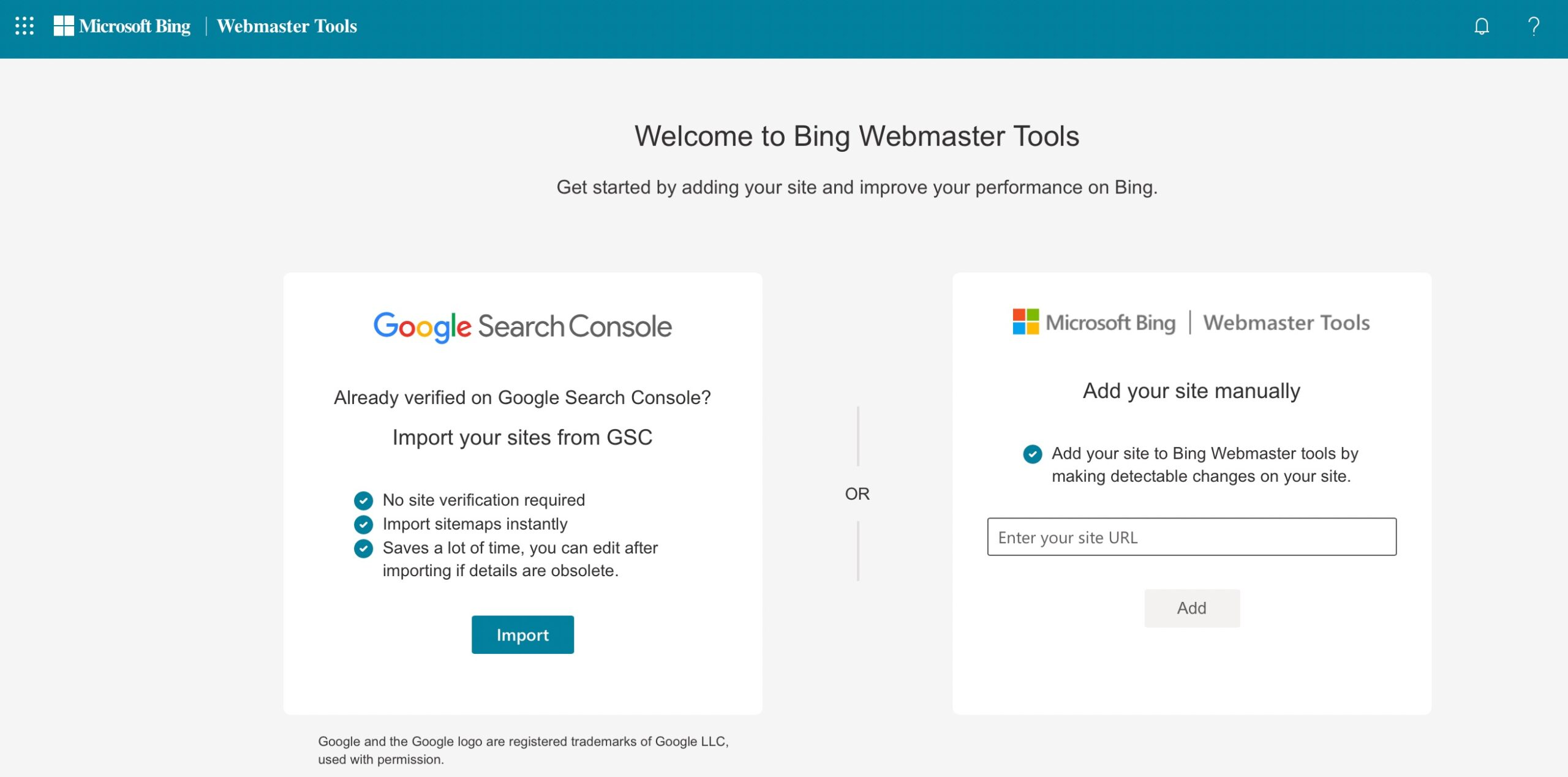 Create a Bing account