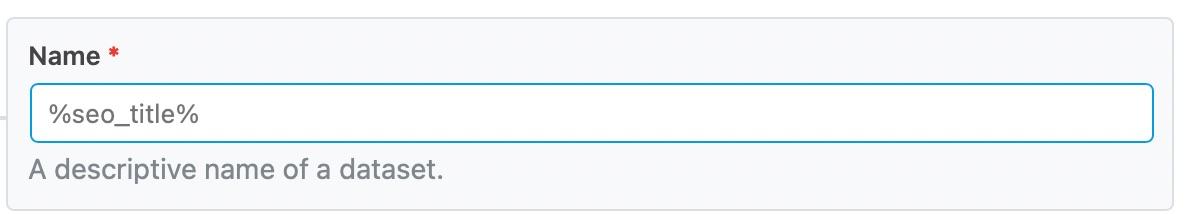 Enter the dataset name
