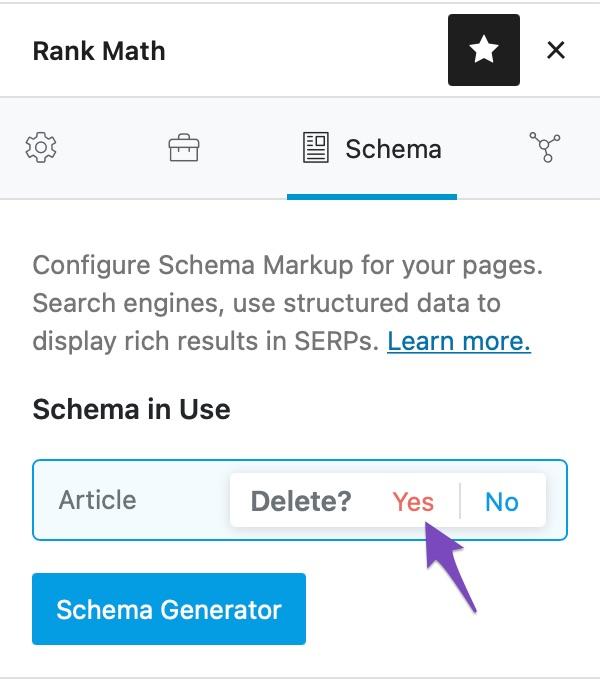 Delete the Schema in Use