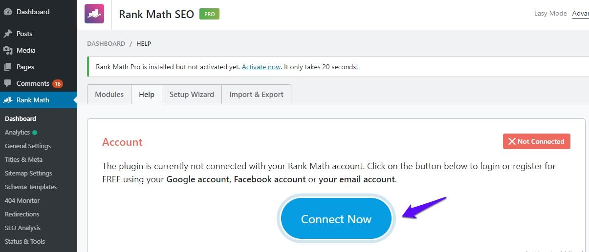 Rank Math PRO help