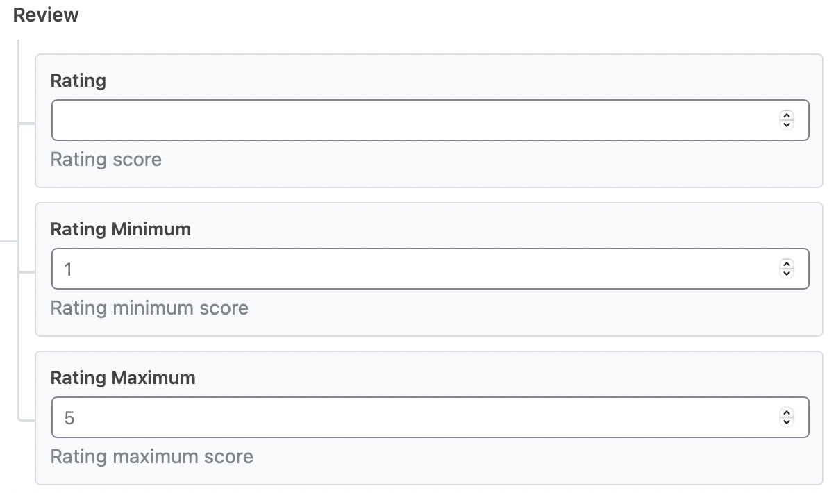 Select the rating score