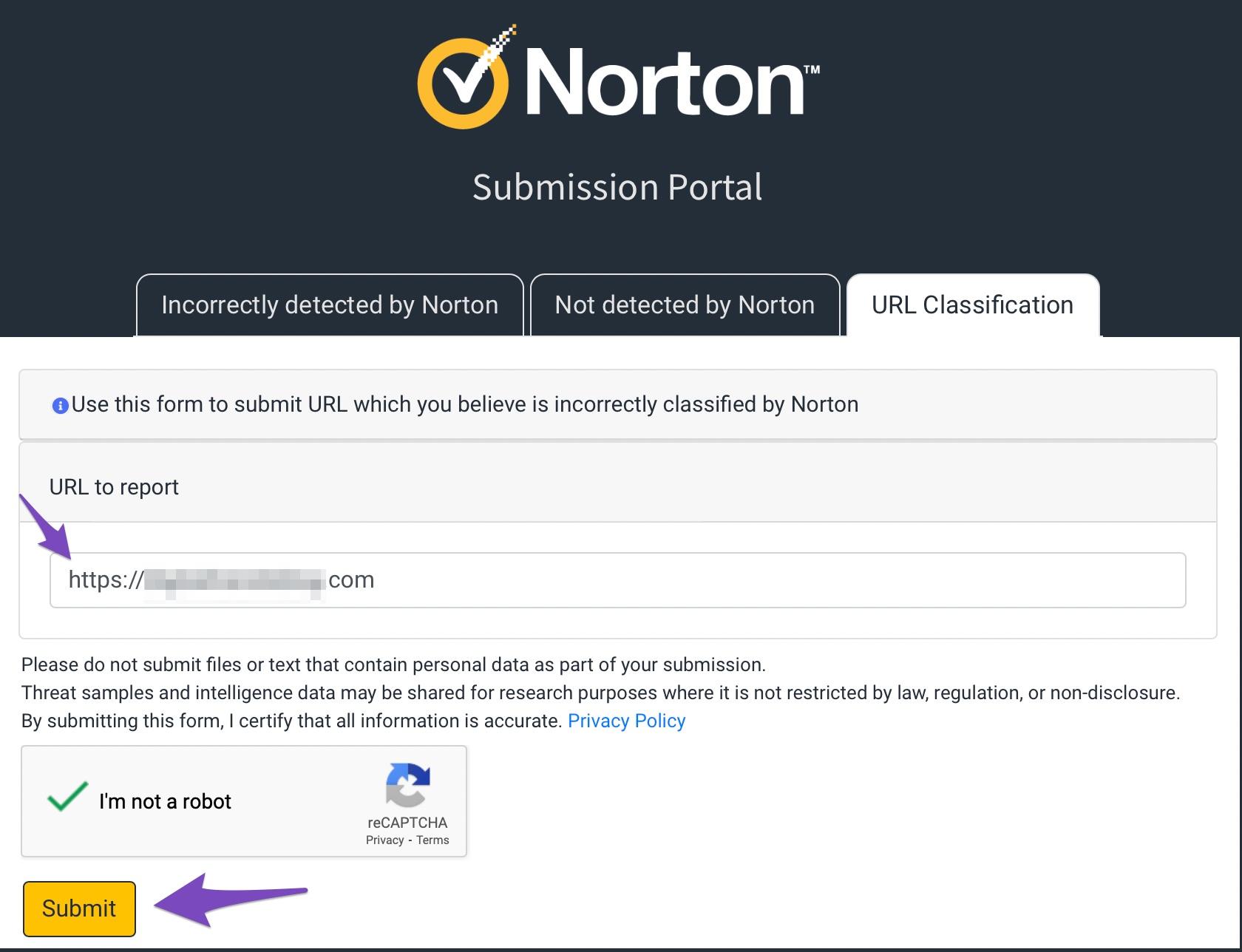 Norton Submission Portal