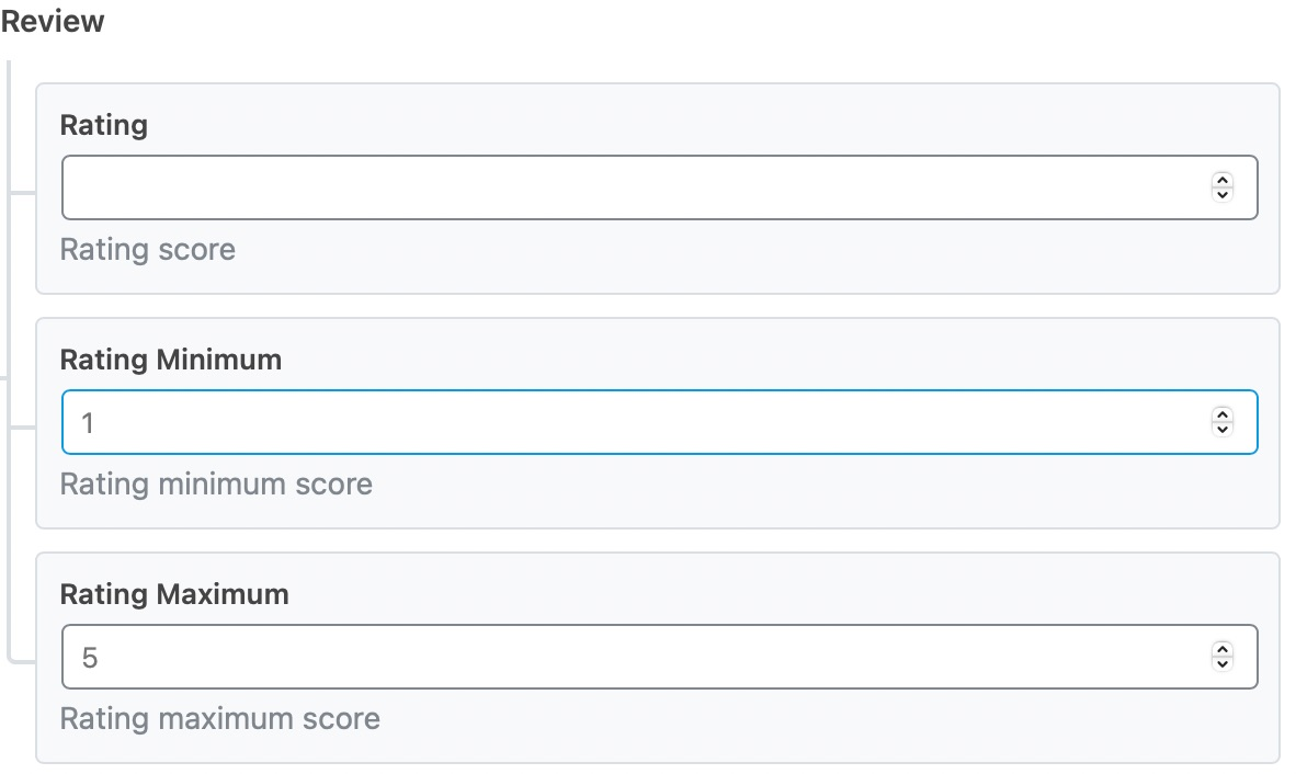 Enter the rating score