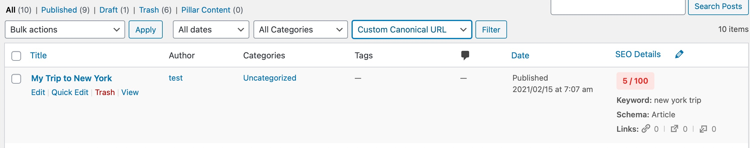 Rank Math Displays Posts With Custom Canonicals Set
