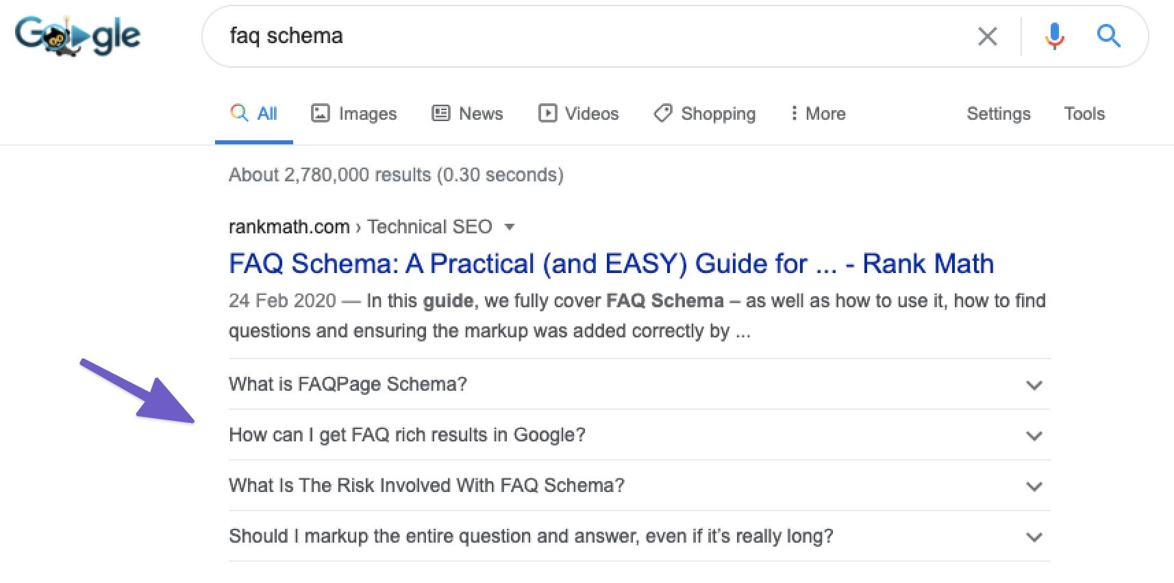 FAQ Schema Example
