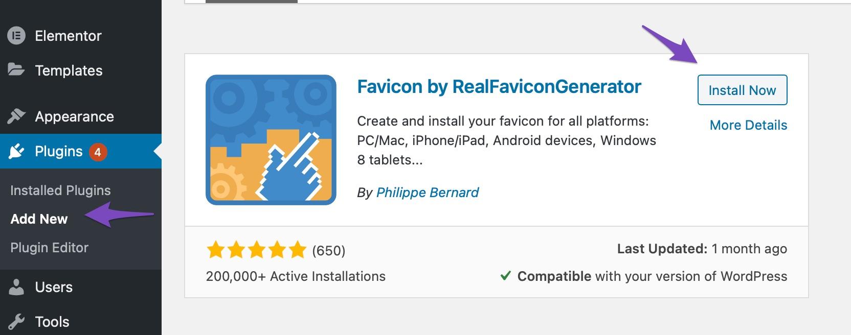 Add RealFaviconGenerator plugin