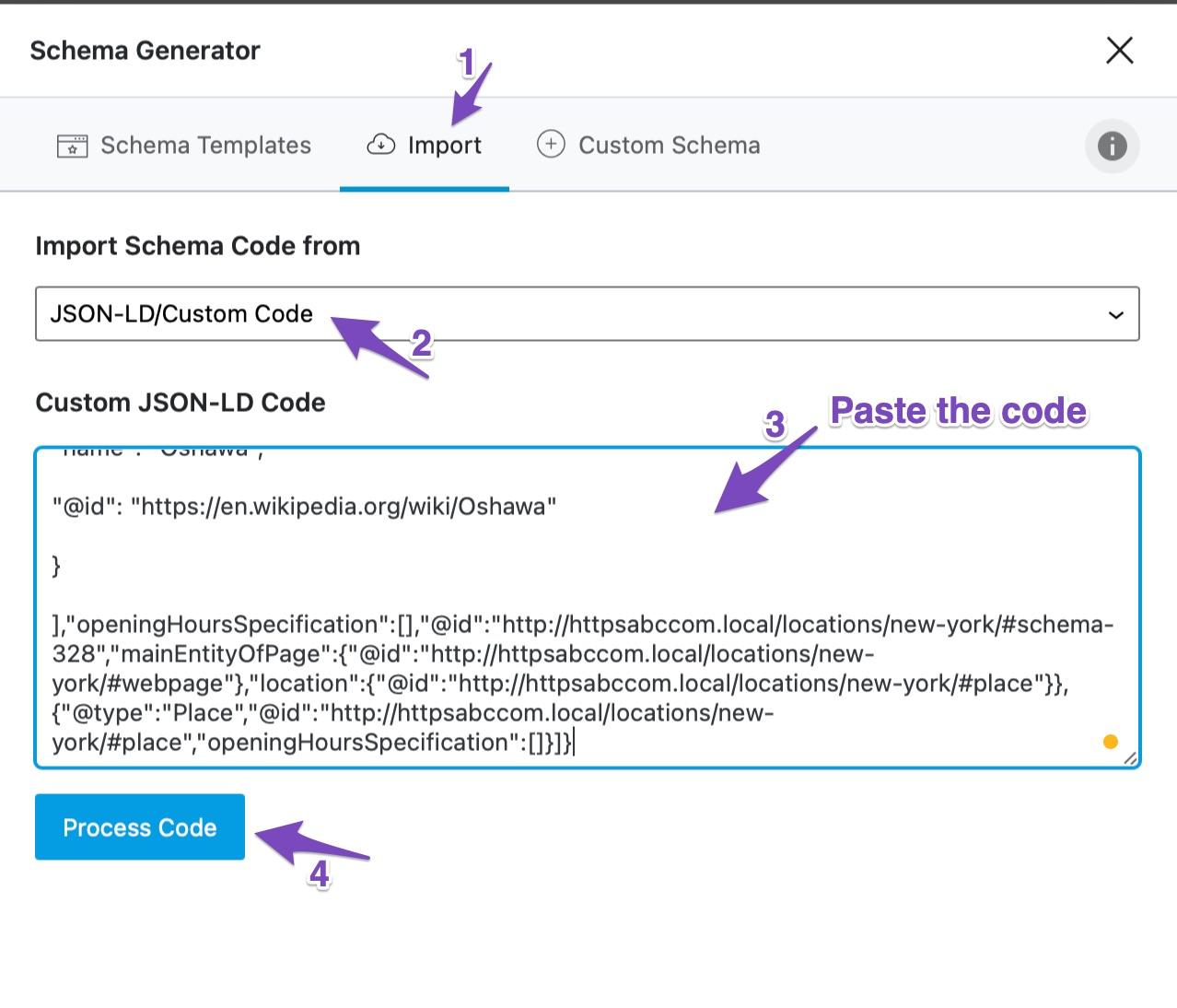 Import the Schema Code