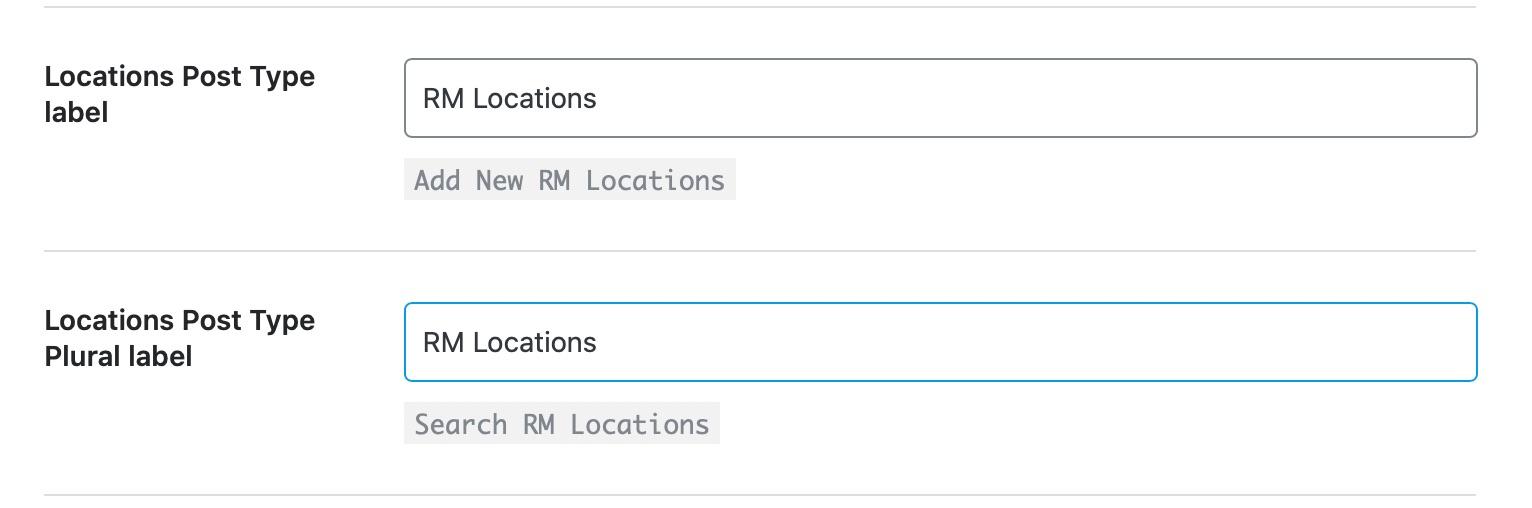 Location Post Type Label