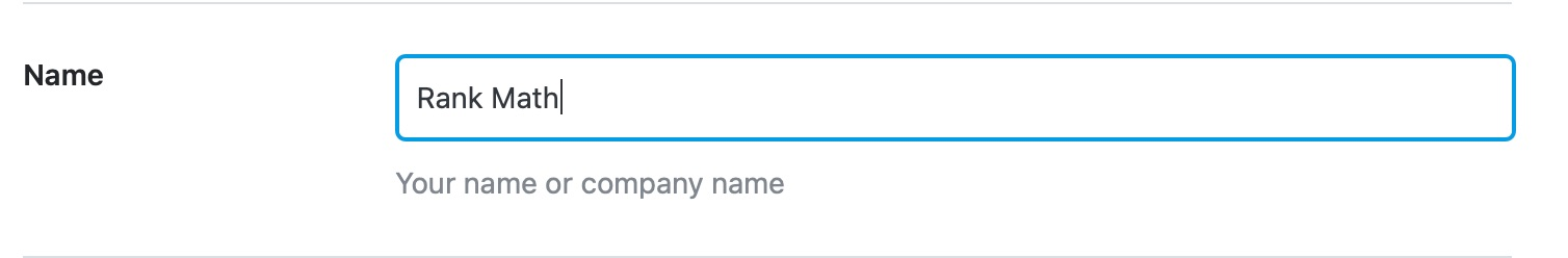 Name of Organization