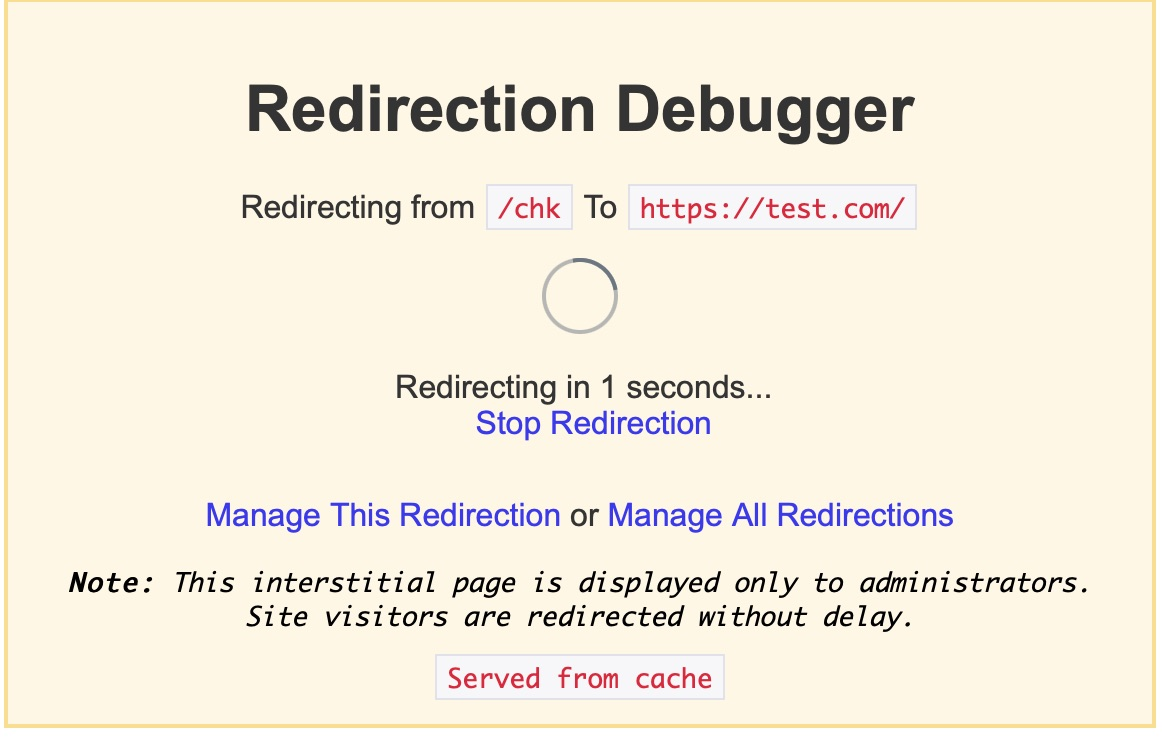 Redirection debugger