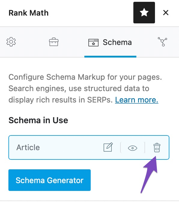 Remove any available schema
